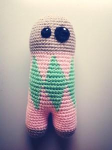 hæklet bamsedukke kanin mønster DIY crochet doll rabbit bunny pattern free