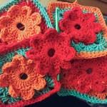 bymami hæklet blomster lap