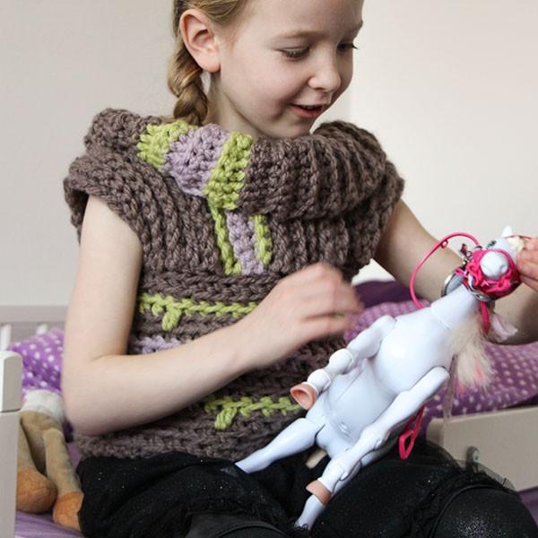 bymami crochet pattern hækle opskrift hæklet sweater vams vest turtleneck striber stripes