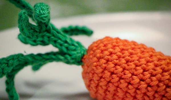 bymami hækle hæklet gulerod freebie opskrift crochet crocheting carrot playfood legemad