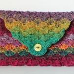 bymami hækle hæklet havfrue taske opskrift mermaid crochet clutch pattern