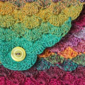 bymabymamidk hæklet havfrue taske vifte mønster hækle opskrift crochet pattern mermaid clutch