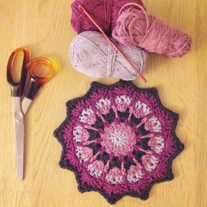 bymami hækle hæklet mandala opskrift crochet pattern