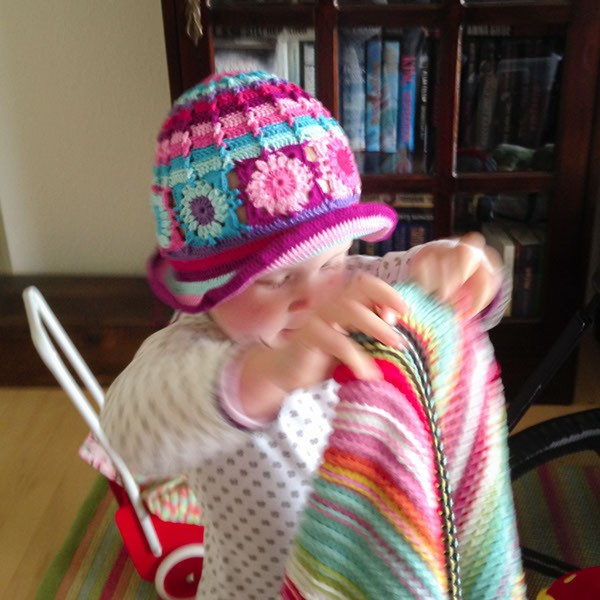 bymami hækle hæklet sommer hat hue firkanter diagram opskrift crochet pattern summer hat beanie square