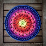 bymami hækle hæklet summer dreams mandala opskrift mønster diagram flacon doily vægpynt pynt grydelap crochet crocheted pattern potholder home decor