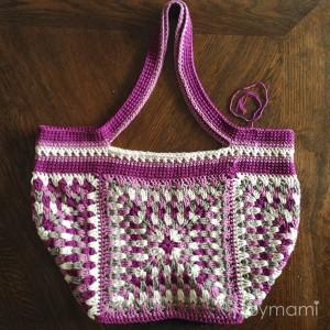 bymami hækle hæklet bedstemorfirkant taske granny square diy gratis opskrift free pattern bag crafternoontreatsbagalong