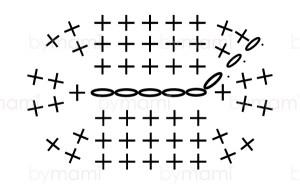 bymami hækle hæklet opskrift gratis freebie diagram minion minions stuart oval sko pattern free crochet crocheted shoe