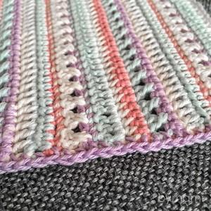 bymami bymamidk hækleblog blog hækle hæklet crochet crocheted diy opskrift pattern freebie freebies gratis tæppe blanket afgham stripes striber free pattern
